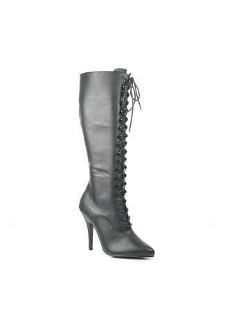 SEDUCE-2020 Black Leather Boots - Clearance