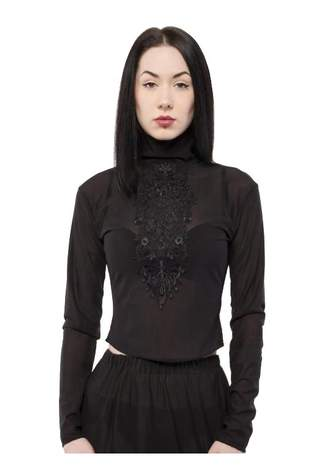 Sheer Applique Gomma Top - Clearance