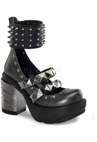 SINISTER-62 Chromed Spike Boots