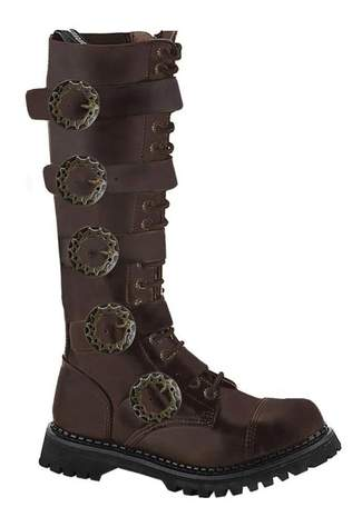 STEAM-20 Brown Leather Boots