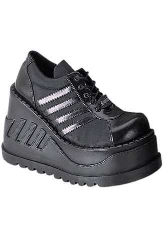 STOMP-08 Black Platform Shoes