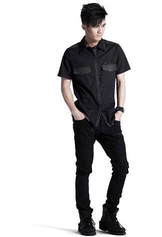 Men's Black Studded Shirt
