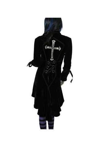Velvet Black Jacket Cross