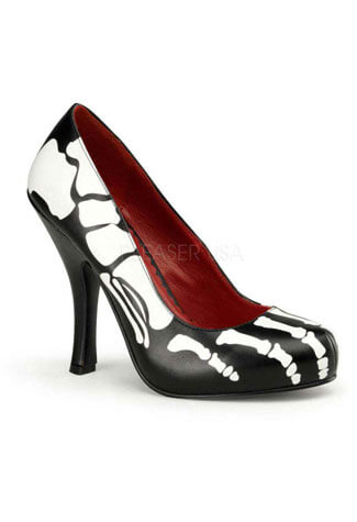 X-RAY-12 Skeleton Print Heels