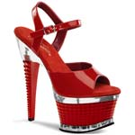 ILLUSION-659 Red Exotic Heels